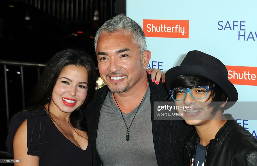TV Personality <a gi-track='captionPersonalityLinkClicked' href=/galleries/search?phrase=Cesar+Millan&family=editorial&specificpeople=780594 ng-click='$event.stopPropagation()'>Cesar Millan</a> and family arrive for the Premiere Of Relativity Media's 'Safe Haven' held at The TCL Chinese Theater on February 5, 2013 in Hollywood, California.