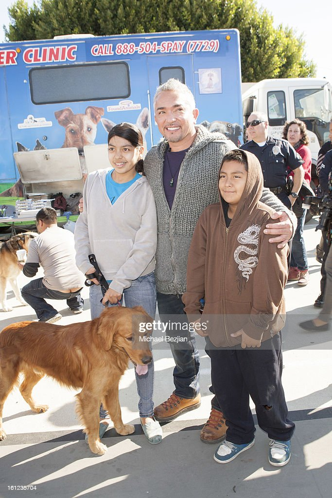 TV personality <a gi-track='captionPersonalityLinkClicked' href=/galleries/search?phrase=Cesar+Millan&family=editorial&specificpeople=780594 ng-click='$event.stopPropagation()'>Cesar Millan</a> and guests attend <a gi-track='captionPersonalityLinkClicked' href=/galleries/search?phrase=Cesar+Millan&family=editorial&specificpeople=780594 ng-click='$event.stopPropagation()'>Cesar Millan</a> and Carrie Ann Inaba team up for National Spay and Neuter Month at Salesian Boys and Girls Club of Los Angeles on February 9, 2013 in Los Angeles, California.
