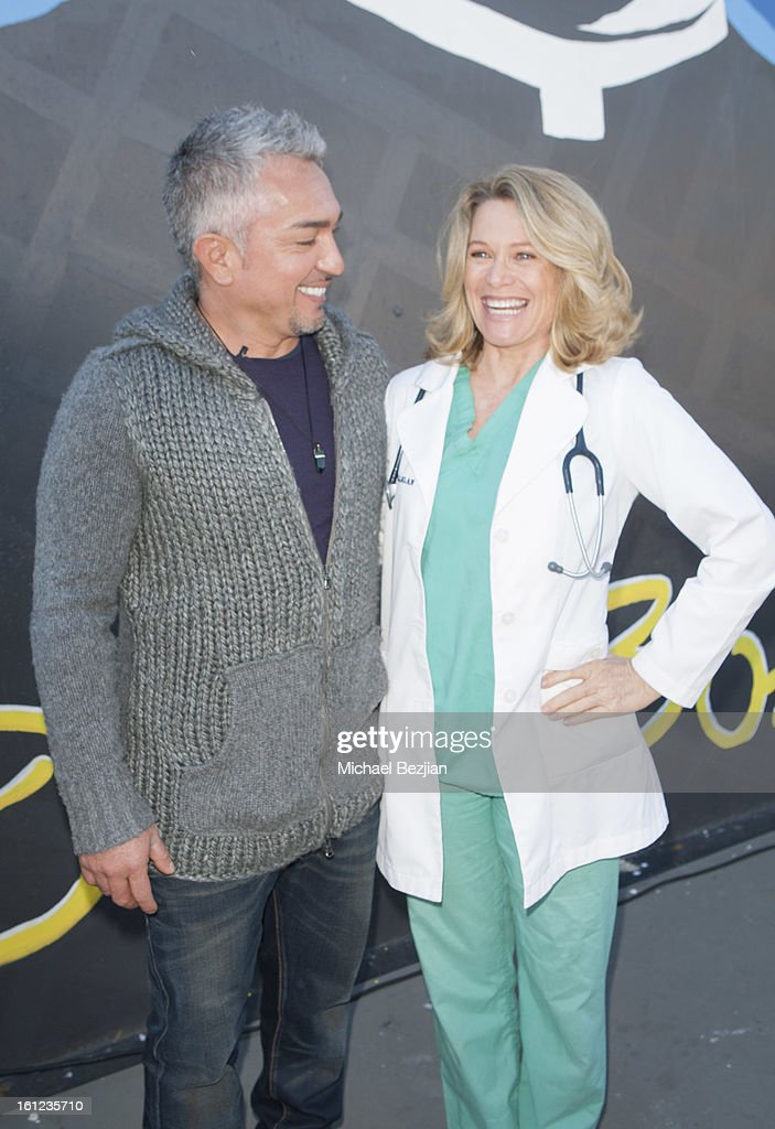 TV personality <a gi-track='captionPersonalityLinkClicked' href=/galleries/search?phrase=Cesar+Millan&family=editorial&specificpeople=780594 ng-click='$event.stopPropagation()'>Cesar Millan</a> and Veterinarian Doc Halligan attend <a gi-track='captionPersonalityLinkClicked' href=/galleries/search?phrase=Cesar+Millan&family=editorial&specificpeople=780594 ng-click='$event.stopPropagation()'>Cesar Millan</a> and Carrie Ann Inaba team up for National Spay and Neuter Month at Salesian Boys and Girls Club of Los Angeles on February 9, 2013 in Los Angeles, California.