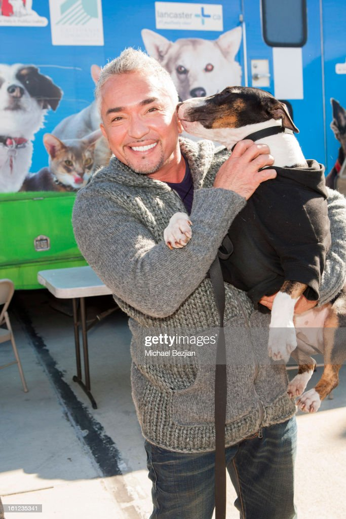 TV personality Cesar Millan attends Cesar Millan and Carrie Ann Inaba team up for National Spay and Neuter Month at Salesian Boys and Girls Club of...