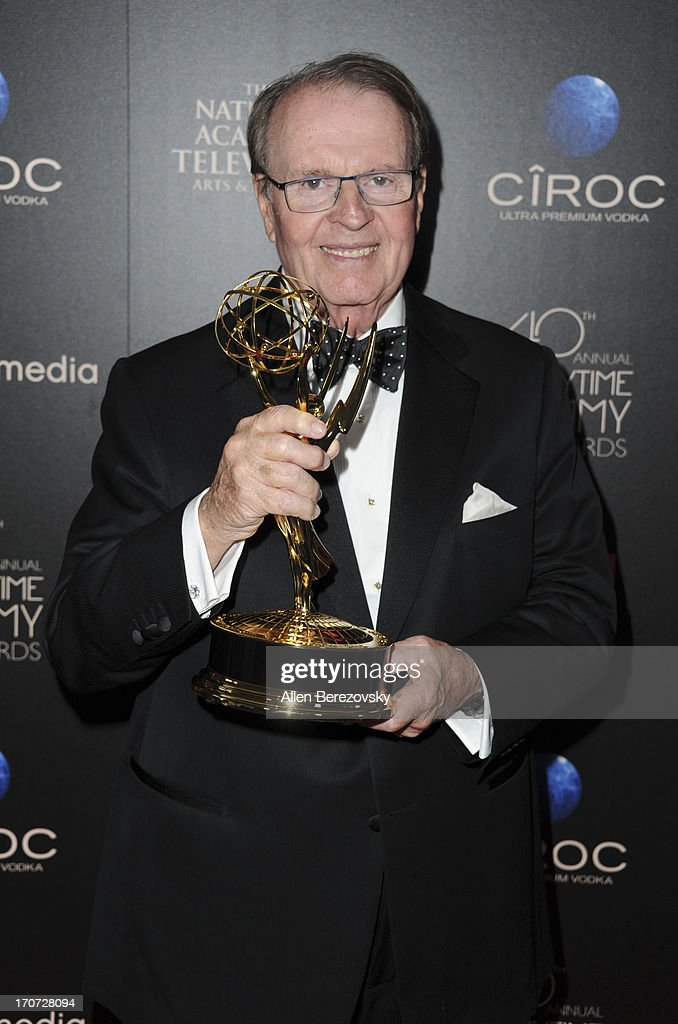 TV personality Charles Osgood poses with the Outstanding Morning Program award for 'CBS Sunday Morning' at 40th Annual Daytime Entertaimment Emmy Awards at The Beverly Hilton Hotel on June 16, 2013 in Beverly Hills, California.