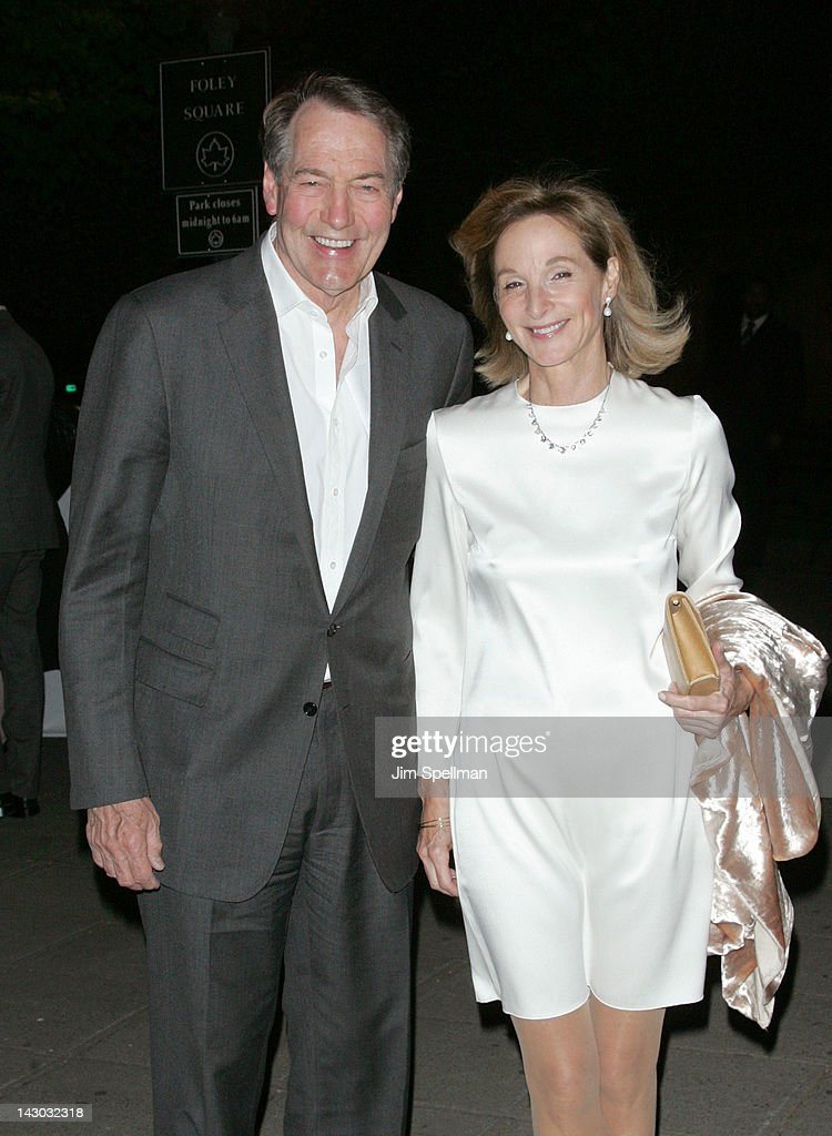 TV Personality <a gi-track='captionPersonalityLinkClicked' href=/galleries/search?phrase=Charlie+Rose&family=editorial&specificpeople=535420 ng-click='$event.stopPropagation()'>Charlie Rose</a> and wife <a gi-track='captionPersonalityLinkClicked' href=/galleries/search?phrase=Mary+King&family=editorial&specificpeople=2183214 ng-click='$event.stopPropagation()'>Mary King</a> attend the Vanity Fair Party during the 2012 Tribeca Film Festival at the State Supreme Courthouse on April 17, 2012 in New York City.