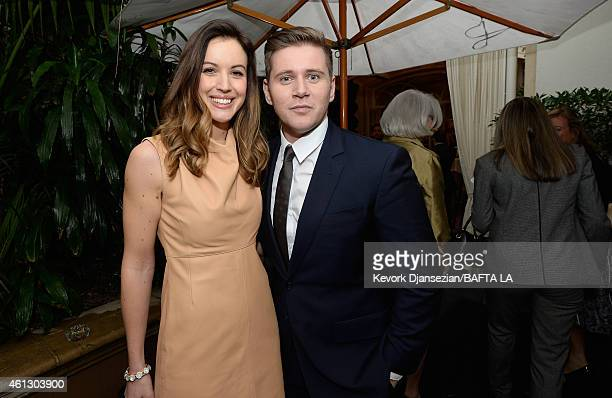 TV personality Charlie Webster and actor Allen Leech attend the BAFTA Los Angeles Tea Party at The Four Seasons Hotel Los Angeles At Beverly Hills on...