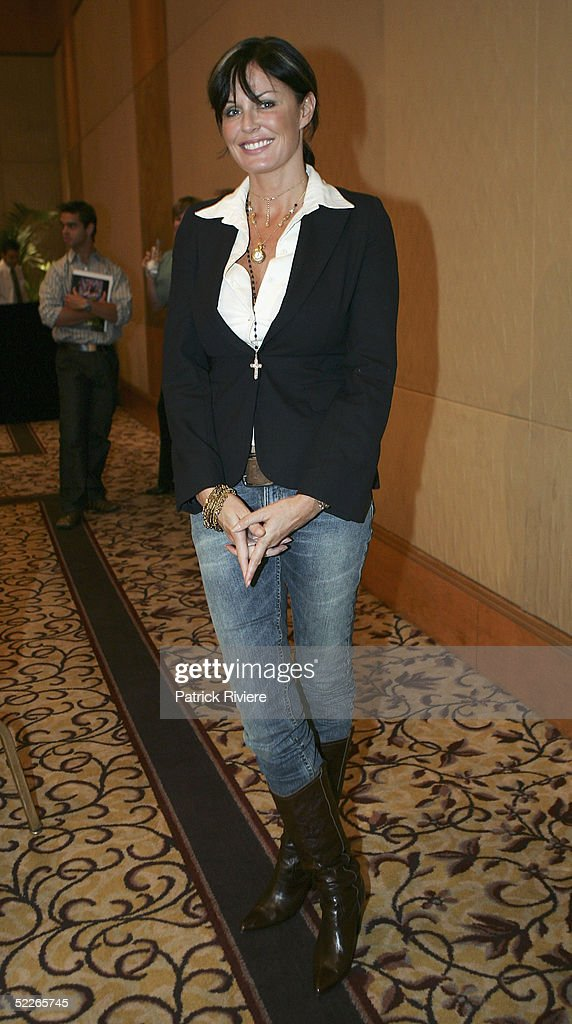 TV personality Charlotte Dawson attends the press conference to introduce the hosts for the MTV Australia Video Music Awards at the Four Seasons...