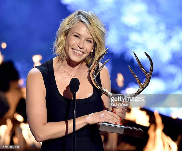 TV personality Chelsea Handler accepts the Funniest MF award onstage during Spike TV's Guys Choice 2015 at Sony Pictures Studios on June 6 2015 in...