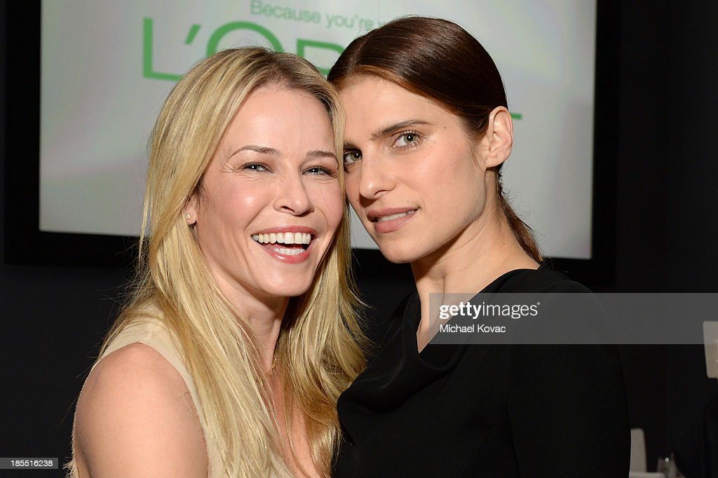 TV personality Chelsea Handler and actress Lake Bell attend ELLE's 20th Annual Women In Hollywood Celebration at Four Seasons Hotel Los Angeles at Beverly Hills on October 21, 2013 in Beverly Hills, California.