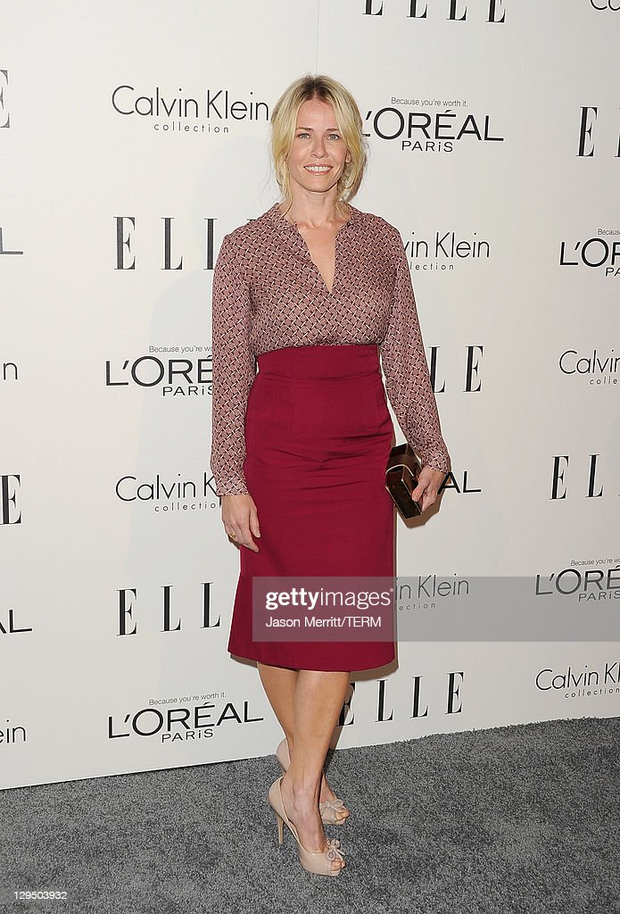 TV Personality <a gi-track='captionPersonalityLinkClicked' href=/galleries/search?phrase=Chelsea+Handler&family=editorial&specificpeople=599162 ng-click='$event.stopPropagation()'>Chelsea Handler</a> arrives at ELLE's 18th Annual Women in Hollywood Tribute held at the Four Seasons Hotel on October 17, 2011 in Los Angeles, California.