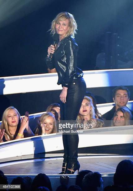 TV personality Chelsea Handler speaks onstage during the 2014 MTV Video Music Awards at The Forum on August 24 2014 in Inglewood California