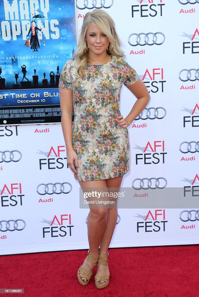 TV personality <a gi-track='captionPersonalityLinkClicked' href=/galleries/search?phrase=Chelsie+Hightower&family=editorial&specificpeople=5775836 ng-click='$event.stopPropagation()'>Chelsie Hightower</a> attends the AFI FEST 2013 presented by Audi 50th Anniversary Commemoration Screening of Disney's 'Mary Poppins' at the TCL Chinese Theatre on November 9, 2013 in Hollywood, California.