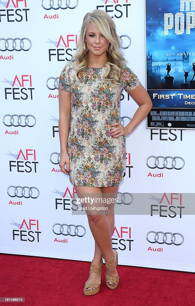 TV personality Chelsie Hightower attends the AFI FEST 2013 presented by Audi 50th Anniversary Commemoration Screening of Disney's 'Mary Poppins' at the TCL Chinese Theatre on November 9, 2013 in Hollywood, California.