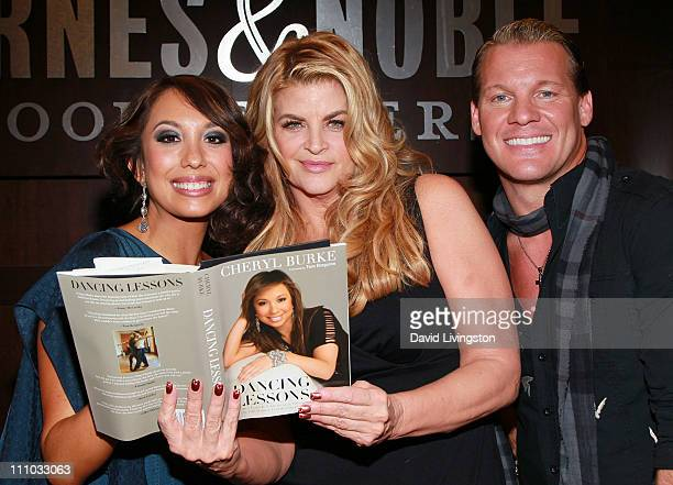 TV personality Cheryl Burke actress Kirstie Alley and TV personality Chris Jericho attend a book signing for Burke's 'Dancing Lessons' and Jericho's...