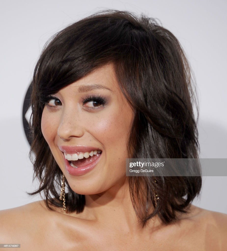TV personality <a gi-track='captionPersonalityLinkClicked' href=/galleries/search?phrase=Cheryl+Burke&family=editorial&specificpeople=540289 ng-click='$event.stopPropagation()'>Cheryl Burke</a> arrives at the 40th Annual People's Choice Awards at Nokia Theatre LA Live on January 8, 2014 in Los Angeles, California.
