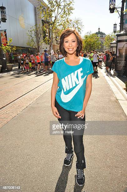 Personality Cheryl Burke hosts at the Grove's annual ' We Run For The Grove' to support the American Heart Association at The Park at The Grove on...