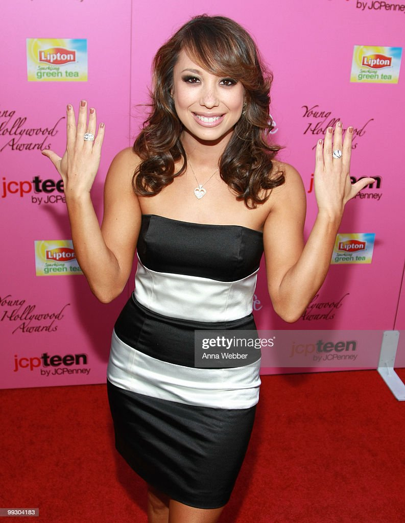 TV Personality Cheryl Burke wears Simon G Jewelry at the 2010 Hollywood Life Young Hollywood Awards on May 13, 2010 in Los Angeles, California.