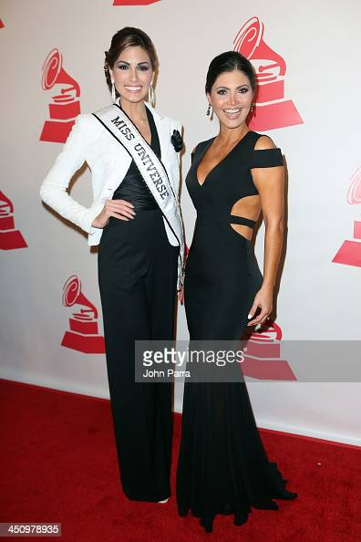 TV personality Chiquinquira Delgado and Miss Universe 2013 Gabriela Isler attend the 2013 Person of the Year honoring Miguel Bose at the Mandalay Bay...