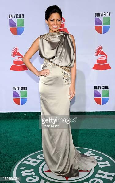 TV personality Chiquinquira Delgado arrives at the 12th annual Latin GRAMMY Awards at the Mandalay Bay Resort Casino on November 10 2011 in Las Vegas...