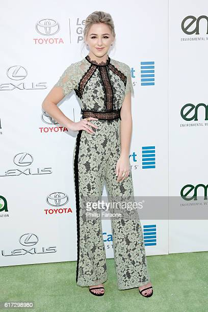 TV personality Chloe Lukasiak attends the Environmental Media Association 26th Annual EMA Awards Presented By Toyota Lexus And Calvert at Warner Bros...