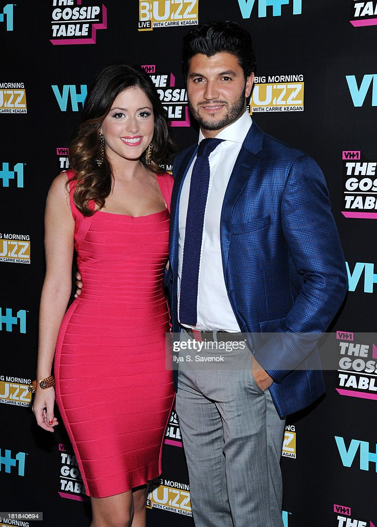 TV personality Chloe Melas and Brian Mazza attend the Big Morning Buzz Live And The Gossip Table Premiere on September 25, 2013 in New York City.