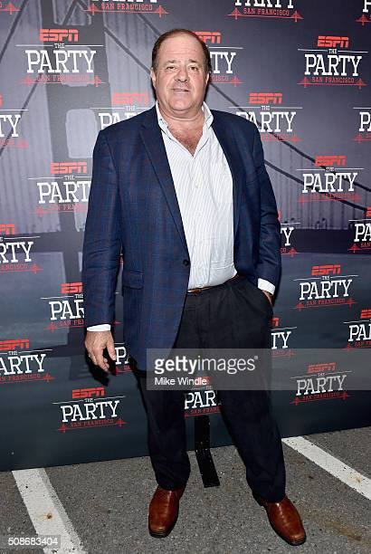 TV personality Chris Berman attends ESPN The Party on February 5 2016 in San Francisco California
