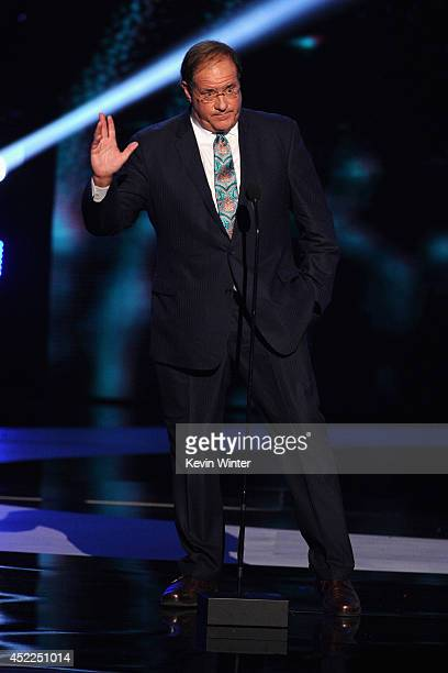 TV personality Chris Berman onstage during the 2014 ESPYS at Nokia Theatre LA Live on July 16 2014 in Los Angeles California