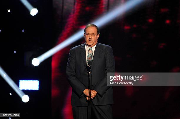 TV personality Chris Berman speaks onstage at the 2014 ESPY Awards at Nokia Theatre LA Live on July 16 2014 in Los Angeles California