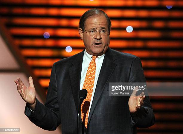 ESPN personality Chris Berman speaks onstage during The 2011 ESPY Awards at Nokia Theatre LA Live on July 13 2011 in Los Angeles California