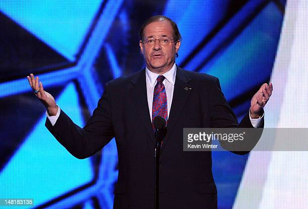 TV personality Chris Berman speaks onstage during the 2012 ESPY Awards at Nokia Theatre LA Live on July 11 2012 in Los Angeles California