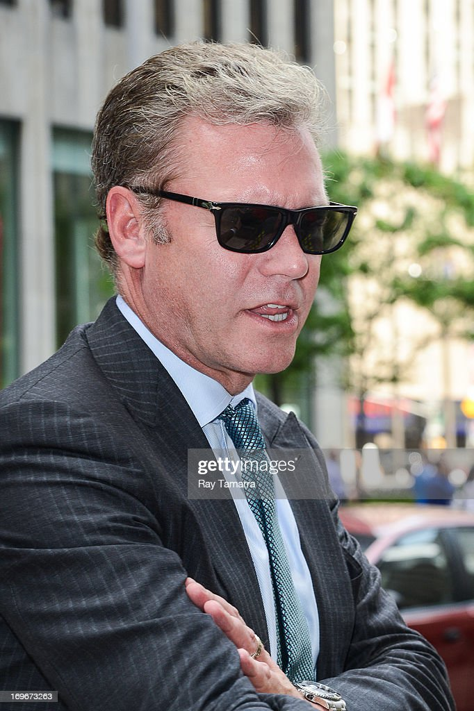 TV personality Chris Hansen leaves the Sirius XM Studios on May 30, 2013 in New York City.