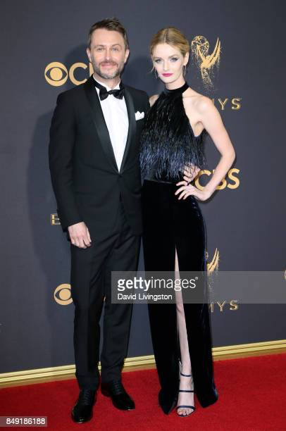 TV personality Chris Hardwick and Lydia Hearst attend the 69th Annual Primetime Emmy Awards Arrivals at Microsoft Theater on September 17 2017 in Los...