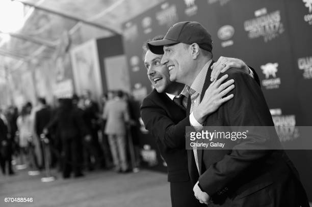 "TV personality Chris Hardwick and producer Kevin Feige at The World Premiere of Marvel Studios' ""Guardians of the Galaxy Vol 2"" at Dolby Theatre in..."