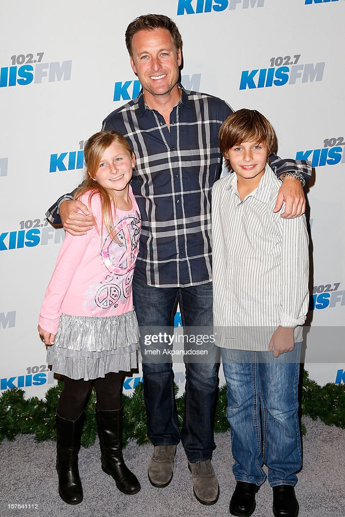 TV personality <a gi-track='captionPersonalityLinkClicked' href=/galleries/search?phrase=Chris+Harrison&family=editorial&specificpeople=583468 ng-click='$event.stopPropagation()'>Chris Harrison</a> and his kids attend KIIS FM's 2012 Jingle Ball at Nokia Theatre L.A. Live on December 3, 2012 in Los Angeles, California.