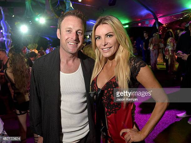TV personality Chris Harrison and Playmate Crystal Harris attend the annual Midsummer Night's Dream Party at the Playboy Mansion hosted by Hugh...