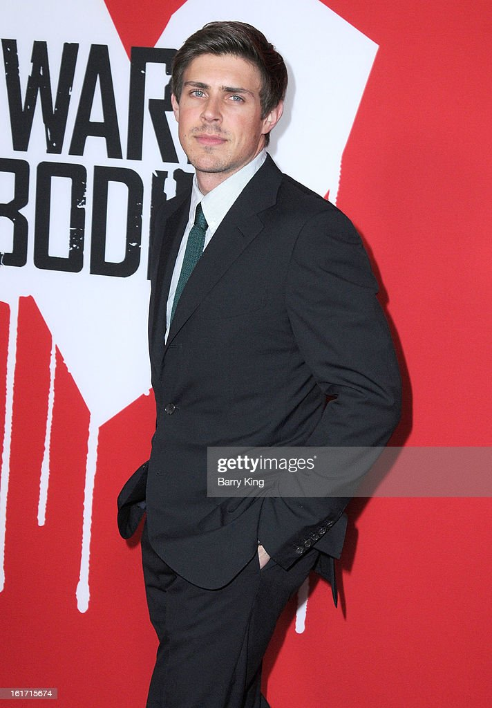 TV personality Chris Lowell arrives at the Los Angeles Premiere 'Warm Bodies' at ArcLight Cinemas Cinerama Dome on January 29, 2013 in Hollywood, California.