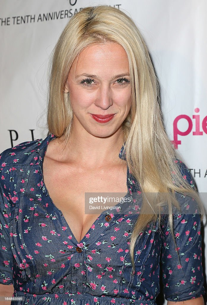 TV personality Christa Hastie attends the 'Pieces (of Ass)' opening night Los Angeles performance at The Fonda Theatre on March 28, 2013 in Los Angeles, California.