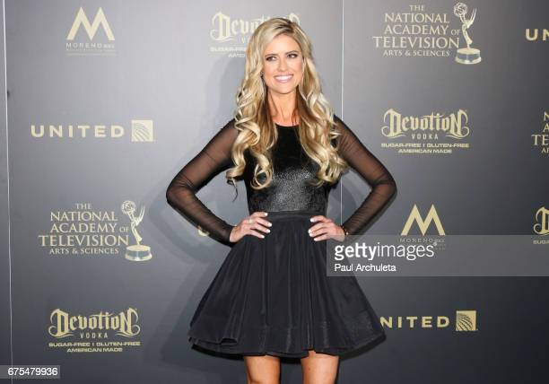 Personality Christina El Moussa attends the press room for the 44th annual Daytime Emmy Awards at Pasadena Civic Auditorium on April 30 2017 in...