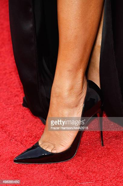 TV personality Christina Milian shoe detail attends the 2015 American Music Awards at Microsoft Theater on November 22 2015 in Los Angeles California