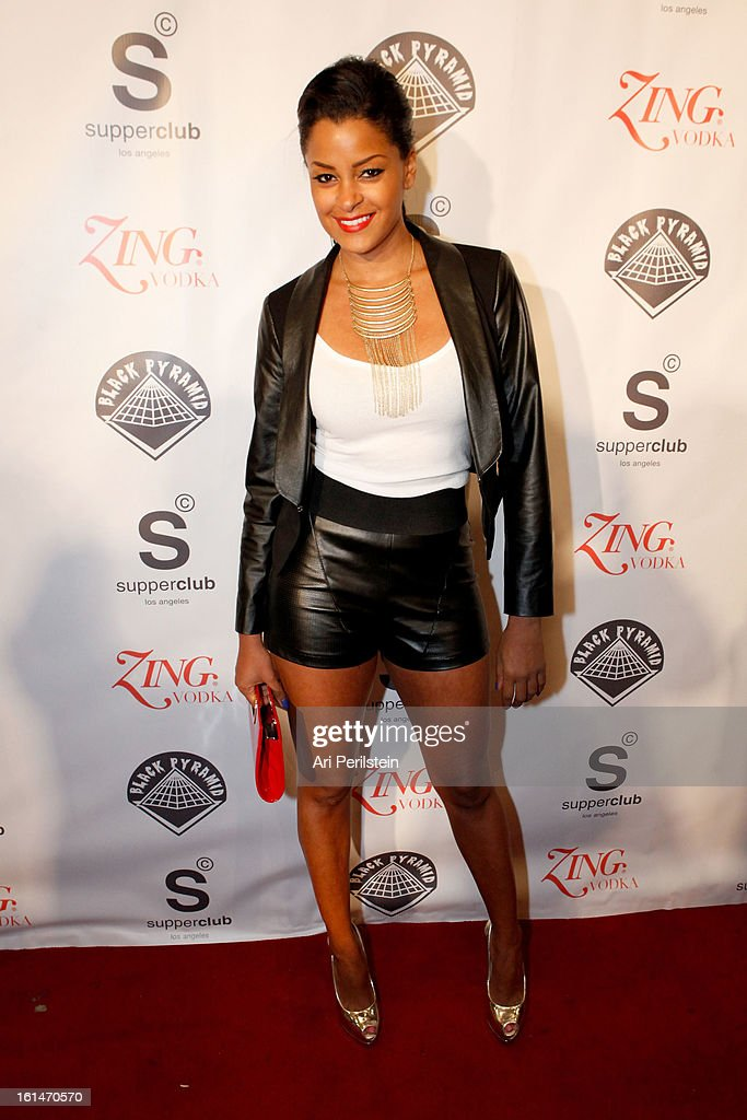 TV Personality Claudia Jordan arrives at Post Grammy Party At Supperclub Hosted By Chris Brown And ZING Vodka Los Angeles on February 10, 2013 in Los Angeles, California.