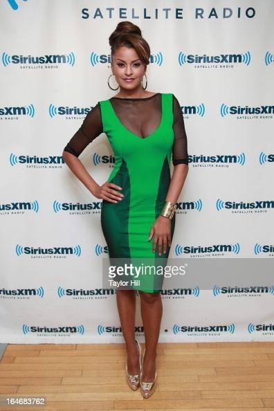 TV personality Claudia Jordan visits SiriusXM Studios on March 26 2013 in New York City