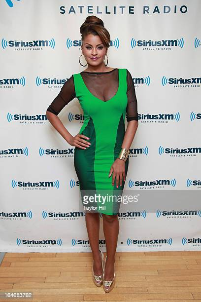 TV personality Claudia Jordan visits SiriusXM Studios on March 26 2013 in New York City