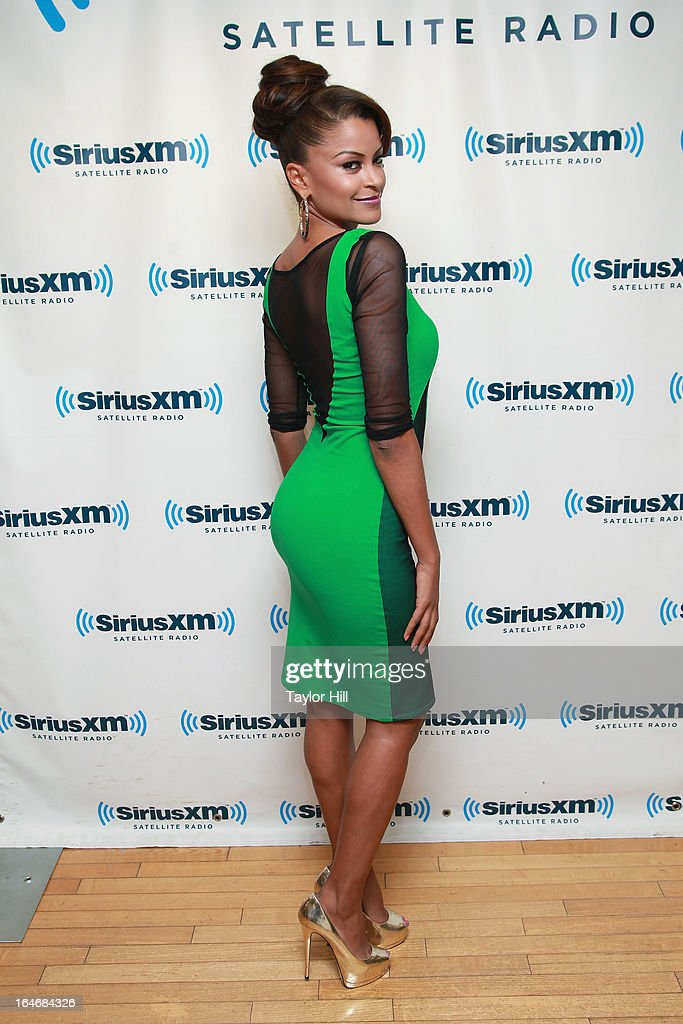 TV personality Claudia Jordan visits SiriusXM Studios on March 26, 2013 in New York City.