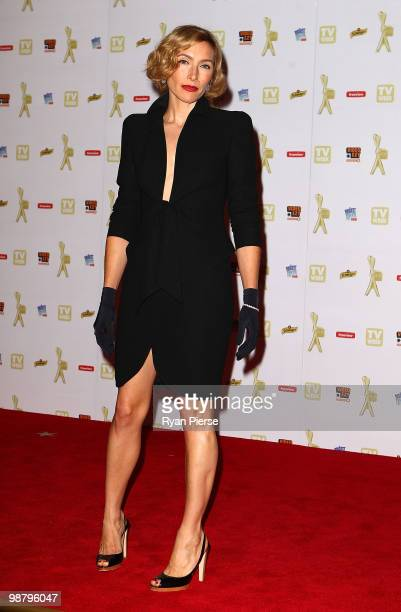 TV personality Claudia Karvan arrives at the 52nd TV Week Logie Awards at Crown Casino on May 2 2010 in Melbourne Australia