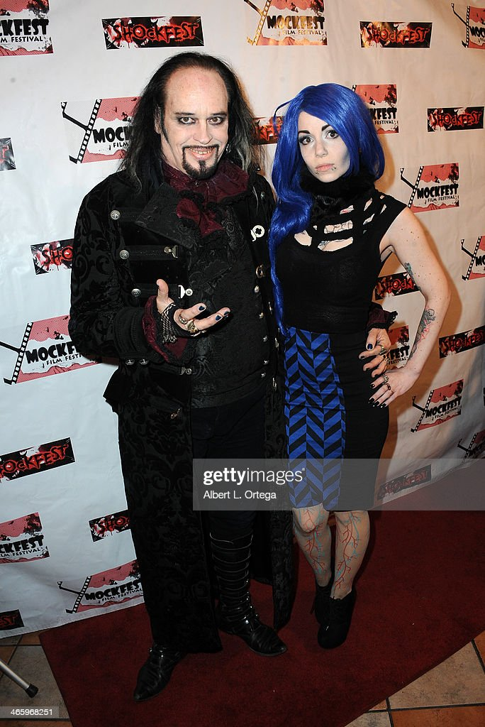 TV personality Cleve Hall and musician/model Kasey Kasket attend the ShockFest Film Festival Awards held at Raleigh Studios on January 11 2014 in Los...