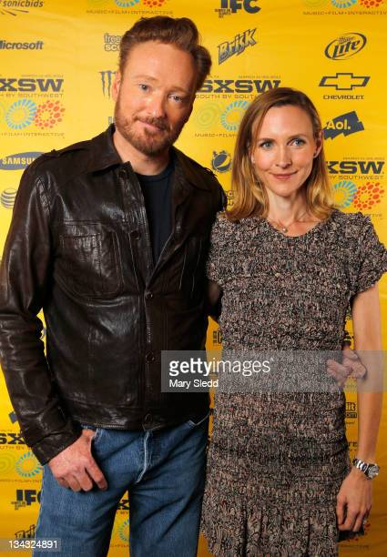 TV personality Conan O'Brien and Liza O'Brien attend the 2011 SXSW Music Film Interactive Festival 'Conan O'Brien Can't Stop' Premiere at Paramount...