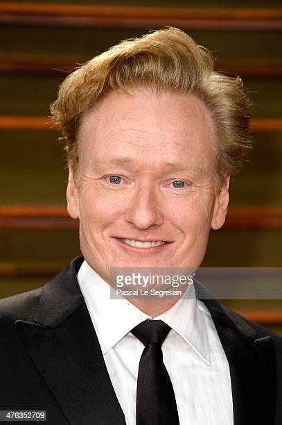 TV personality Conan O'Brien attends the 2014 Vanity Fair Oscar Party hosted by Graydon Carter on March 2 2014 in West Hollywood California