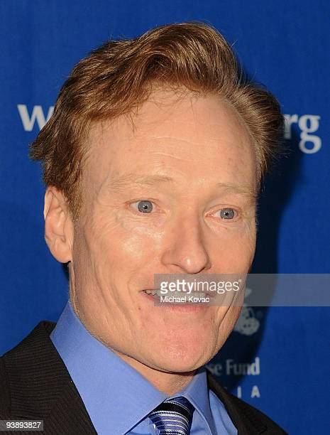 TV personality Conan O'Brien attends the Children's Defense Fund's 19th Annual Los Angeles 'Beat the Odds' Awards at Beverly Hills Hotel on December...