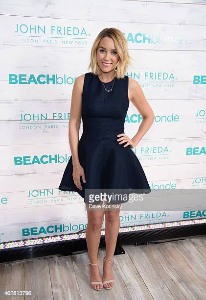 TV personality Conrad attends the John Frieda Hair Care Beach Blonde Collection Party at the Garage on February 5 2015 in New York City