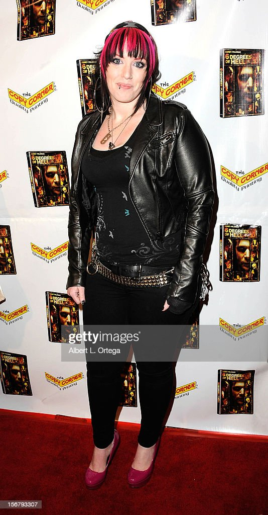 TV personality Constance Hall arrives Premiere Of '6 Degrees Of Hell' - Arrivals held at Laemmle Music Hall 3 on November 20, 2012 in Beverly Hills, California.