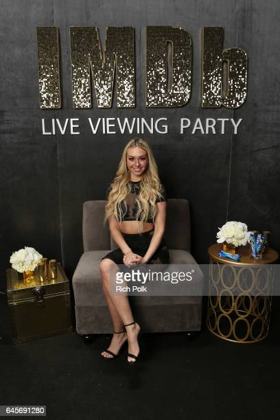 TV personality Corinne Olympios attends IMDb LIVE Viewing Party presented by OREO chocolate candy bar on February 26 2017 in Hollywood California