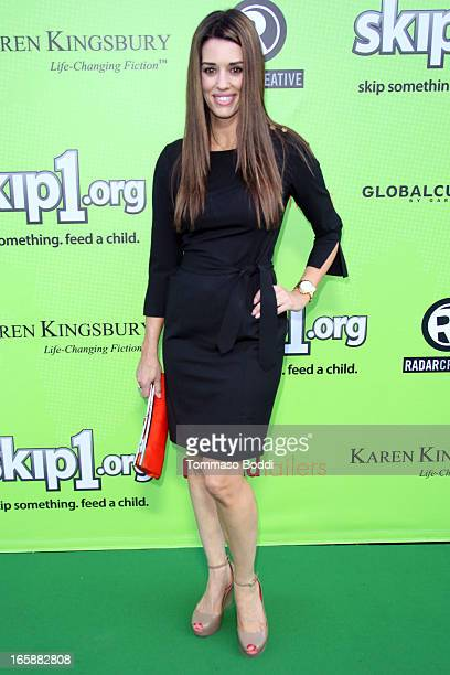 TV personality Cory Oliver attends the Skip1org's 'Skip And Donate' gala event held at The Lot on April 6 2013 in West Hollywood California