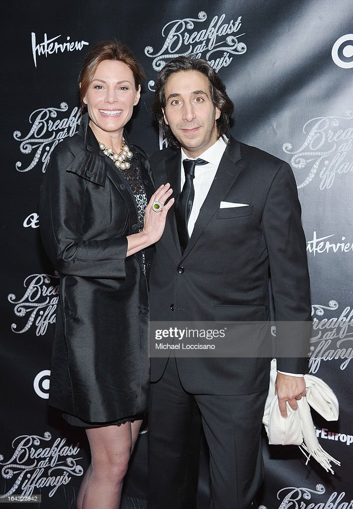 TV personality Countess LuAnn de Lesseps (L) and boyfriend Jacques Azoulay attend the 'Breakfast At Tiffany's' Broadway Opening Night at Cort Theatre on March 20, 2013 in New York City.